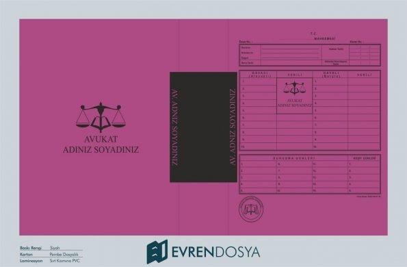 Adliye Mahkeme İcra Dosyası Koyu Pembe